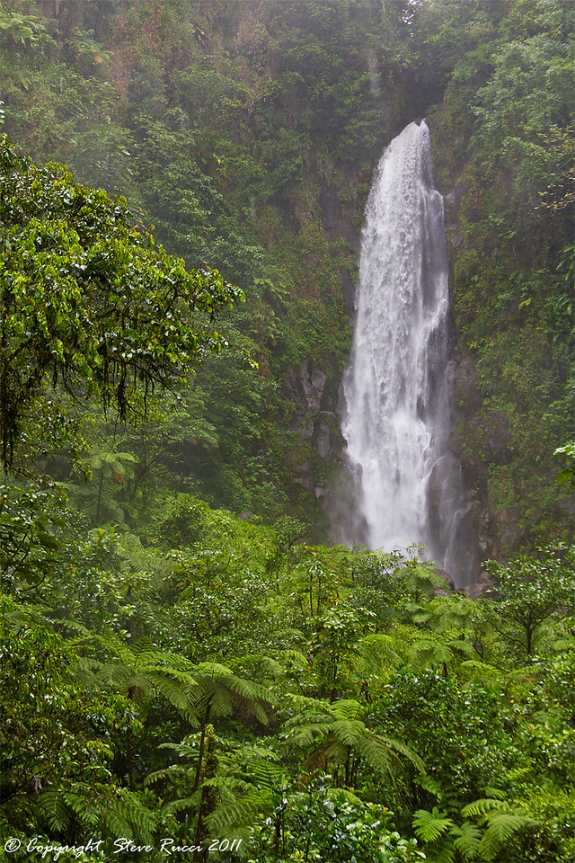 One of the waterfalls of Trafalgar Falls, in Morne Trois Pitons National Park, Dominica